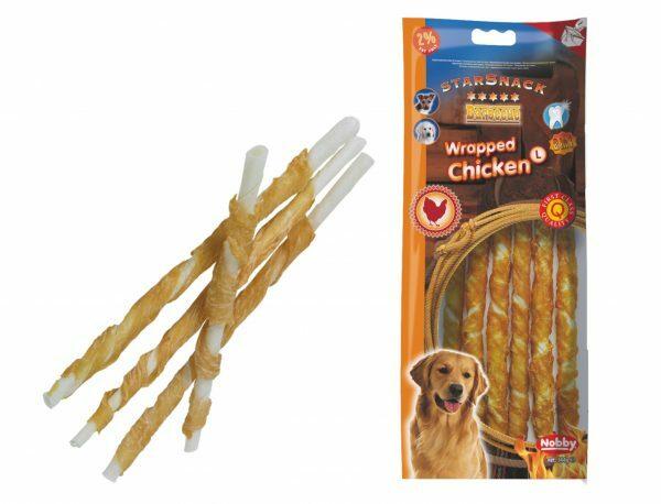 Snack hond kip stick omwikkeld 25cmxØ7-8mm L