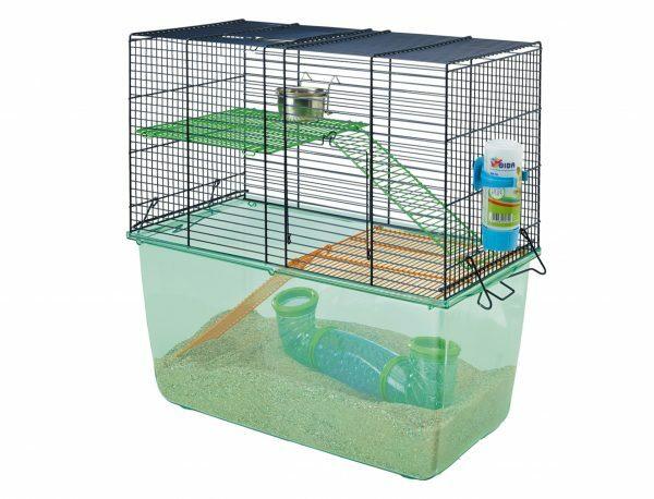 Hamster kooi Habitat blue/doorzichtig 52x26x52cm