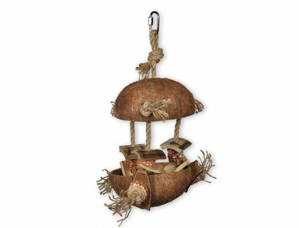 Speelgoed vogel kokos bamboe 36cm