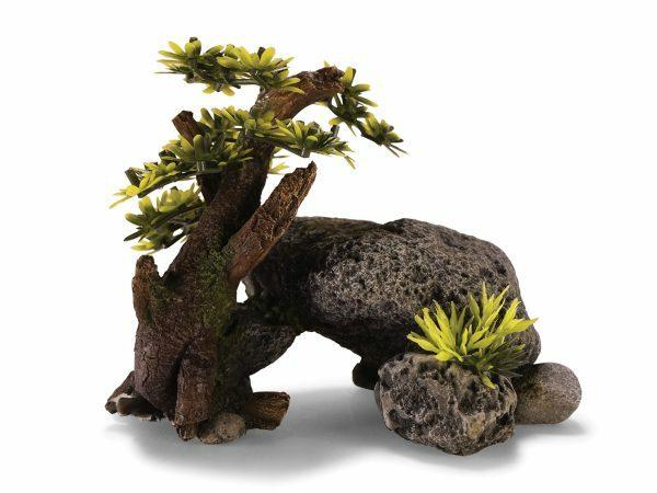 Aqua Deco Rots met bonsai 170x105x132mm