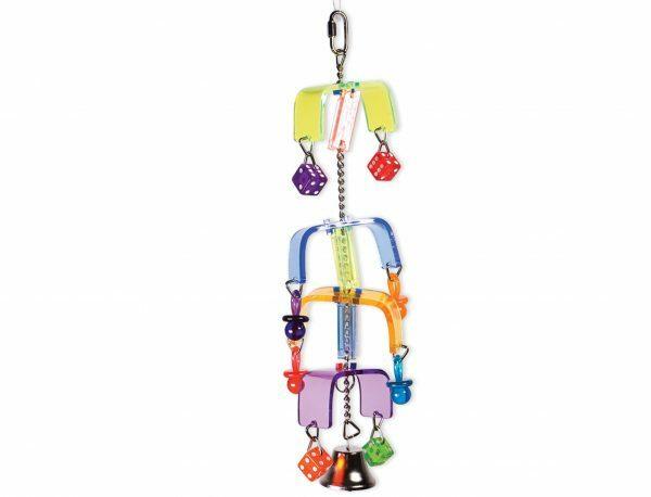 Plexi speelgoed draaimolen+teerlingen+bel 30cm