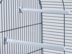 Zitstok vogel plastic wit 17cm(2)