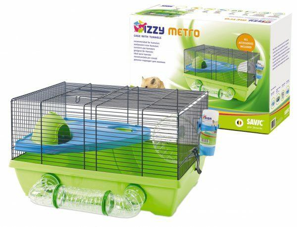 Kooi hamster Izzy Metro blauw/groen 50x40x28cm