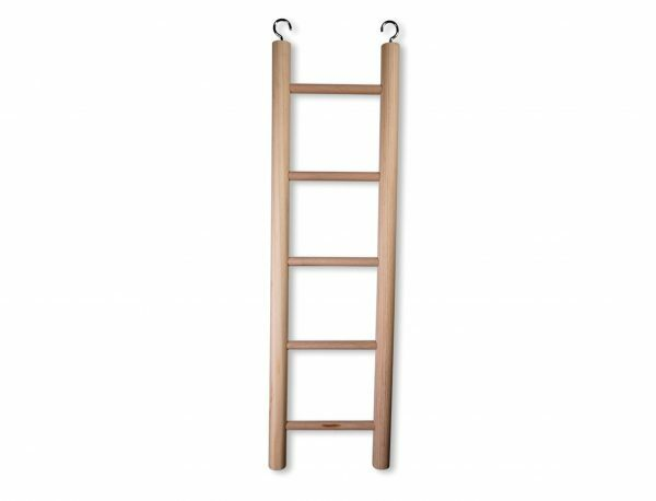 Speelgoed vogel hout ladder 5 sporten 48x14cm
