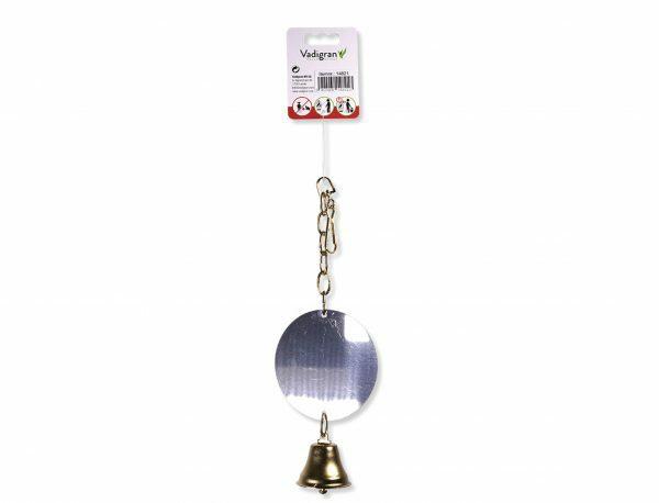 Spiegel metaal rond + 1 bel (10cm)