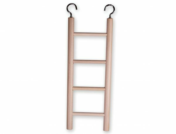 Speelgoed vogel hout ladder 4 sporten 20x7 cm