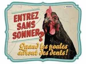 Waakbord foto S kip vintage 4 FR