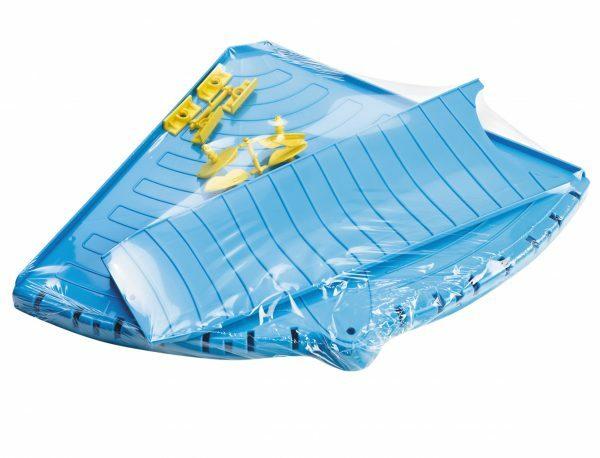 Platform voor knaagdierkooi  blauw 55x39cm