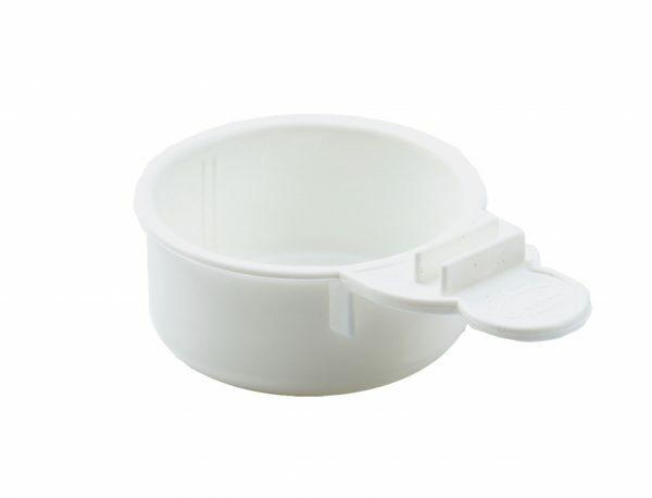 Eivoerbakje met grip wit Ø6,7cm