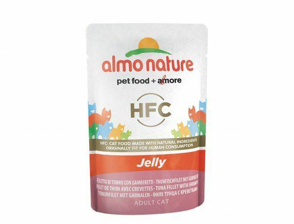 HFC Cats 55g Jelly - met tonijn en garnalen