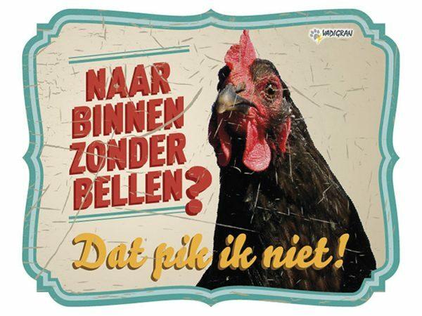 Waakbord foto S kip vintage 4 NL