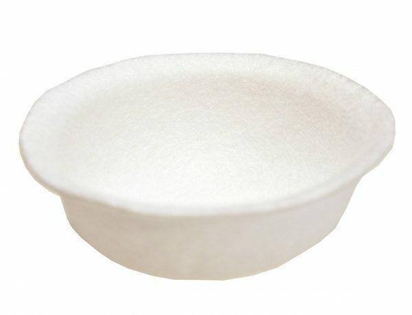 Inlegnest voorgevormd vilt wit Ø10cm