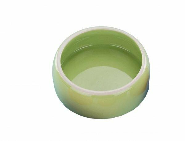 Eetpot knaagdier aardewerk groen Ø14,5cm