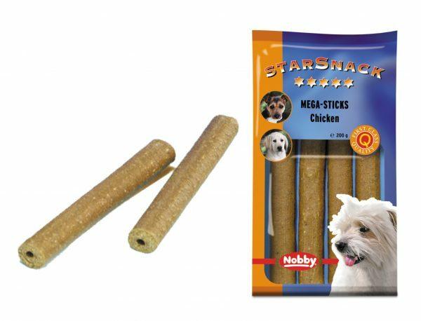 Snack hond mega sticks kip 200gr