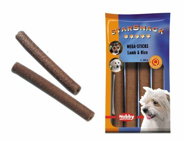 Snack hond mega sticks lam en rijst 200gr