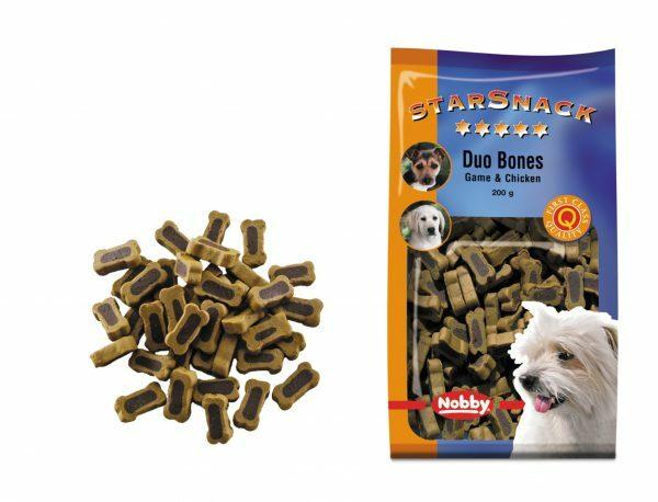 Snack hond duo bones wild en kip 200gr