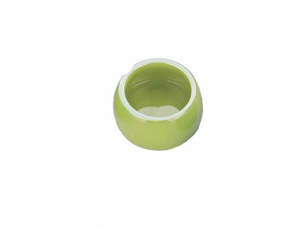 Eetpot knaagdier aardewerk groen Ø8,5cm