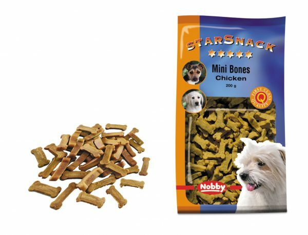 Snack hond mini bones kip 200gr