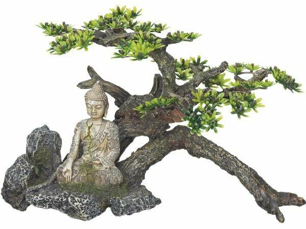 Aqua Deco Boeddha met plant 325x165x210mm