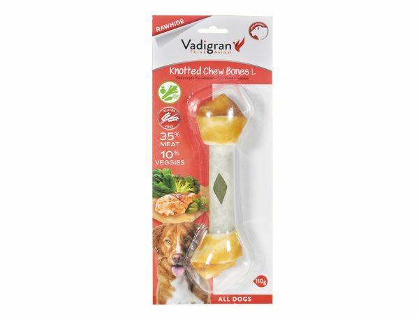 Kauwbeen geknoopt kip&groenten L 110gr/19cm (1)