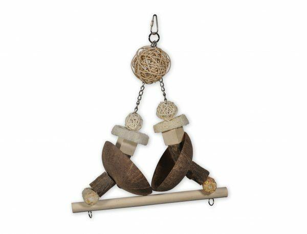Speelgoed vogel Coconut Swing 35cm