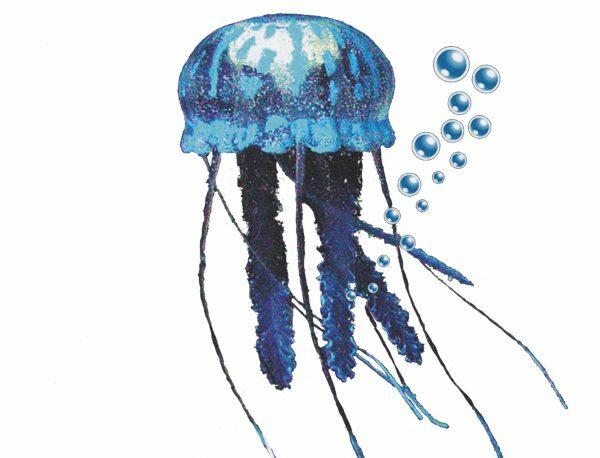 Aqua Deco Drijvende kwal blauw XXL10cm