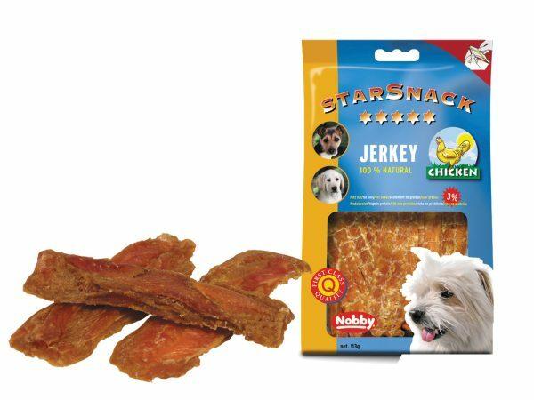Snack hond kip jerky 113gr