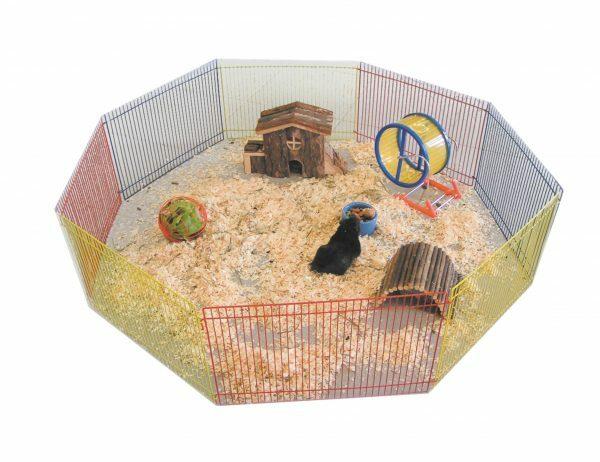 Speelren achthoekig hamster 34 x23cm