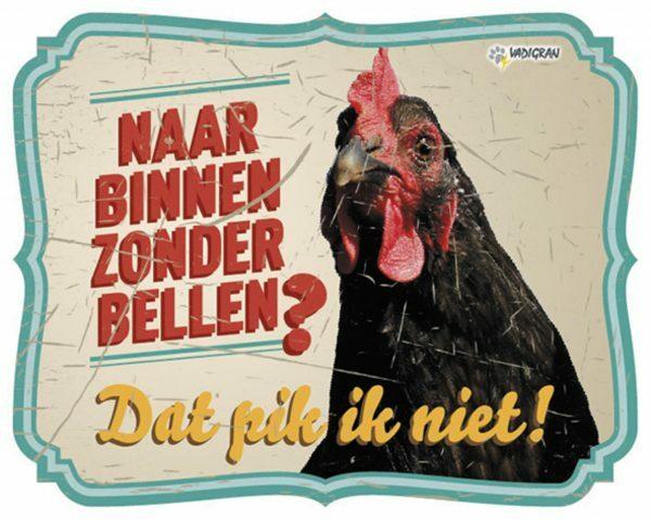 Waakbord foto kip vintage4 NL