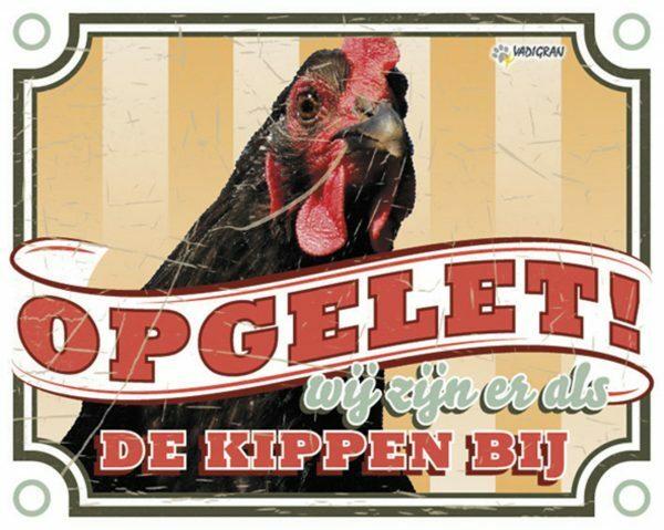Waakbord foto kip vintage3 NL