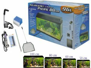 Aquarium kit + biofilter Pacific 80x30x40cm 96L