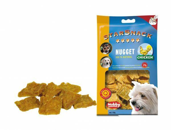 Snack hond kip nugget 113gr