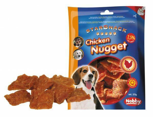 Snack hond kip nugget 375gr