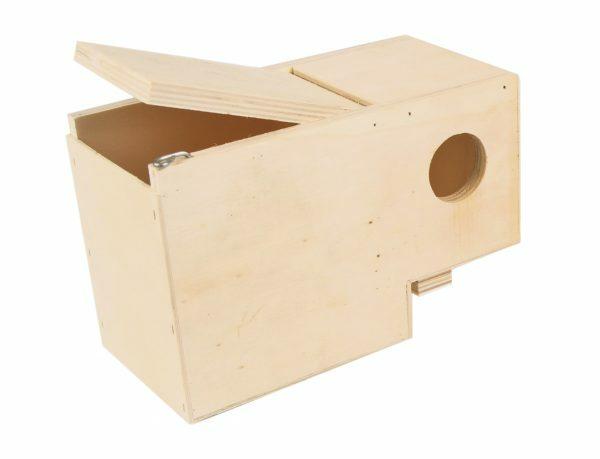 Houten nestkast half buiten 19,5x10x12cm