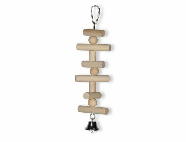 Speelgoed vogel houten ladder 25cm
