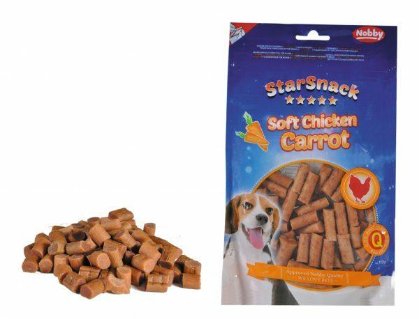 Snack hond soft kip en wortel 113gr