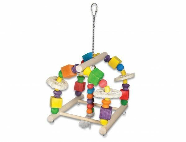 Speelgoed vogel Work Out Fun multikleur 36cm