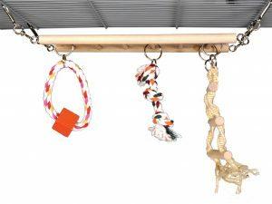 Speelgoed knaagdier hout speelladder 25cm