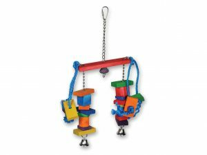 Speelgoed vogel dubbel blokjes multikleur 40cm