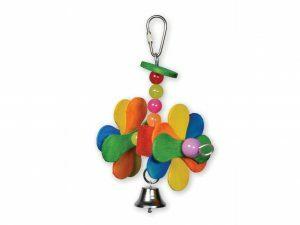 Speelgoed vogel hout Turning Wheels multikleur18cm