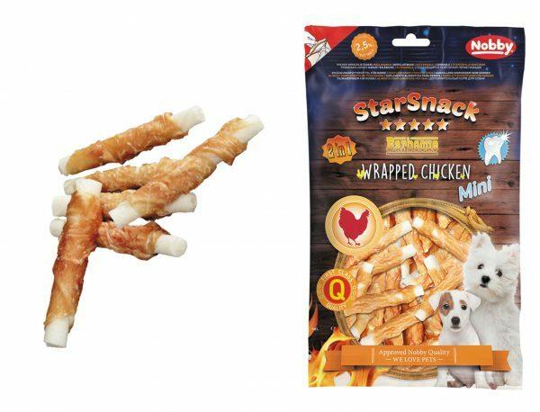 Snack mini kip stick omwikkeld 113gr