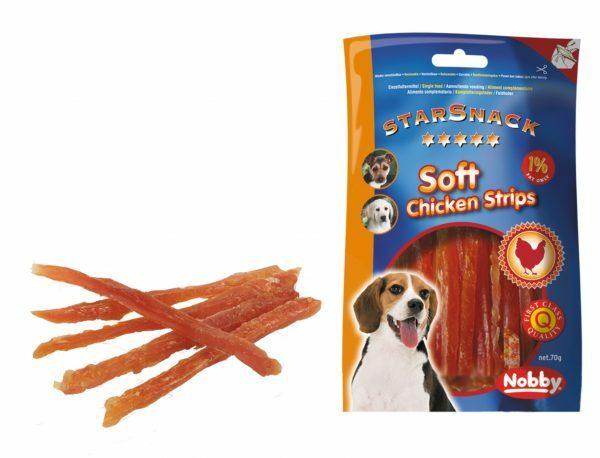 Snack hond soft kip strips 70gr