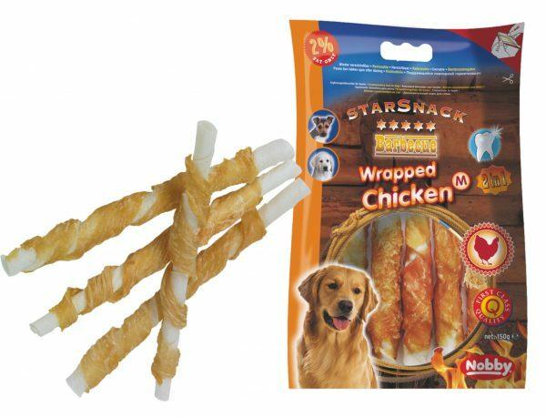 Snack hond kip stick omwikkeld 150g12,5cmxØ15mm M