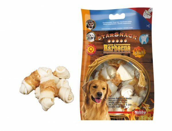 Snack hond kip geknoopt been omwikkeld 113gr