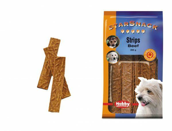 Snack hond strips rund 200gr