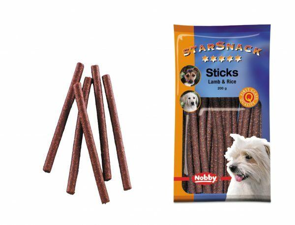 Snack hond sticks lam en rijst 200gr