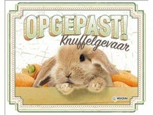 Waakbord konijn NL