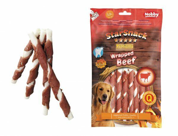 Snack hond rund omwikkeld 70gr/12,7cm