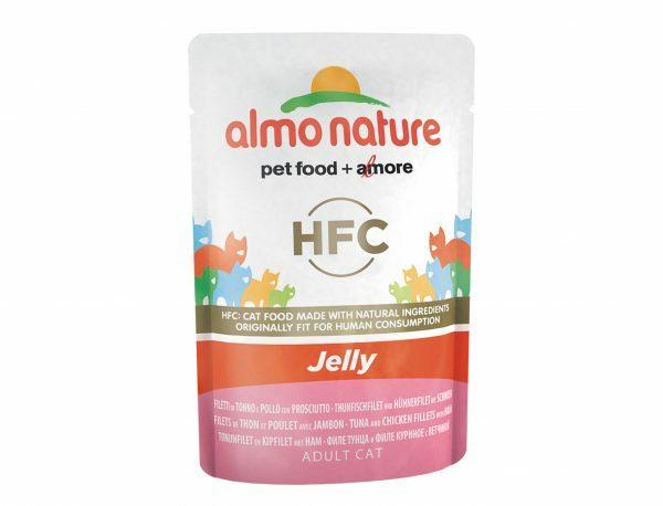 HFC Cats 55g Jelly - met tonijn, kip en ham