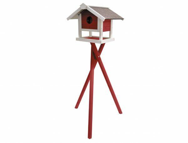 Voederhuis Jura rood + voet 49x42x140cm